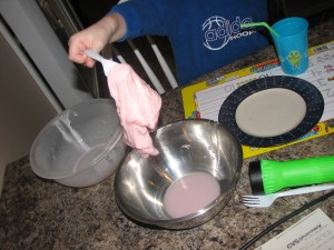 Flubber!  We were trying to make it red but it came out pink