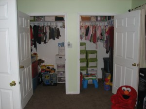 My son and daughter's closet