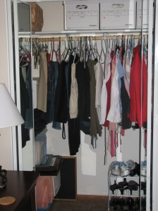 My closet - before you couldn't even see the floor.