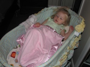 Makenna in bassinet 002
