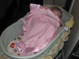 Makenna in bassinet 003