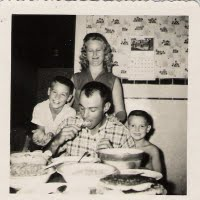 Grandpa, Grandma, dad and gary 1962